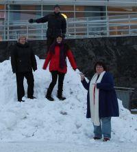ERKKERIn ja TE-ERKKERIn väkeä vuorikiipeilemässä, kevät 2013.