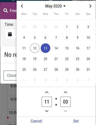Set desired date