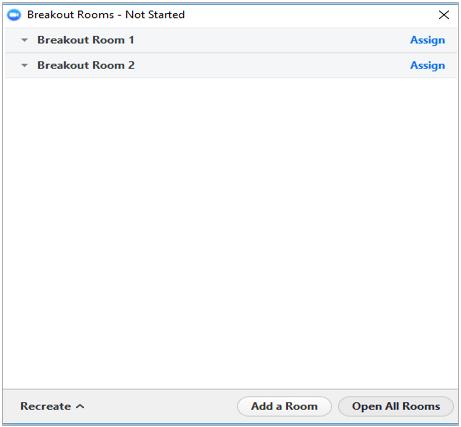 Zoom breakoutrooms